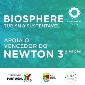 BIOSPHERE Turismo Sustentável apoia o vencedor do NEWTON 3ª edição
