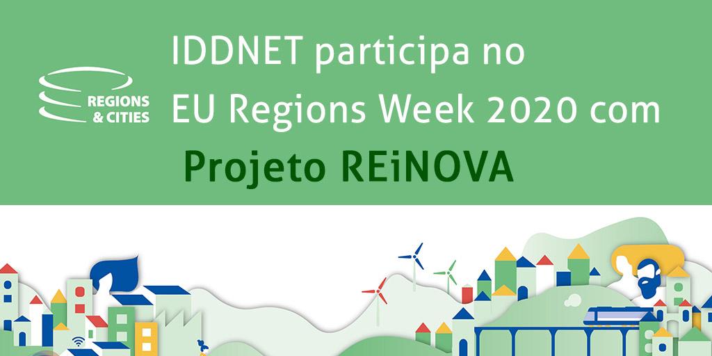 IDDNET apresenta REiNOVA no EU Regions Week 2020