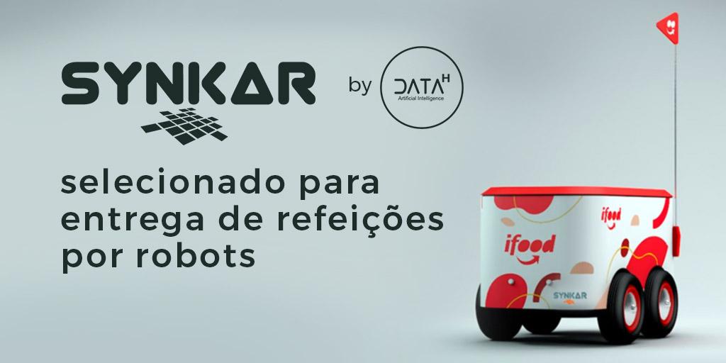 Synkar by Data-H entrega de refeições por robots
