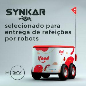 Synkar by Data-H entrega de refeições por robots Share