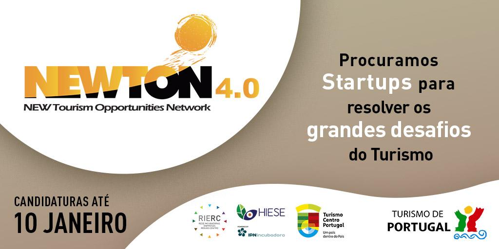 NEWTON 4.0 -  Procuramos Startups para resolver os grandes Desafios do Turismo